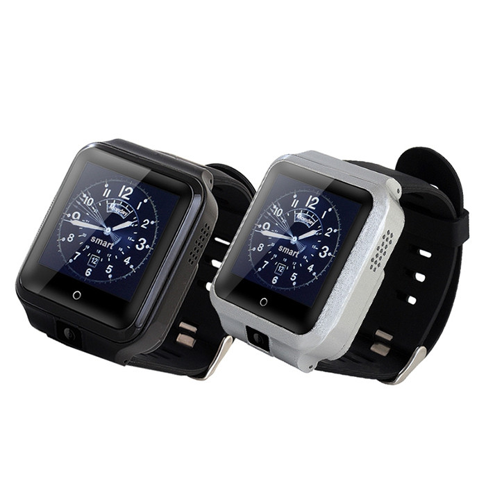 M13 4G Smartwatch Phone 1.54 inch Android 6.0 Snapdragon 8909 1.5GHz Quad-Core 1GB RAM 8GB ROM 3.0MP Front Camera 1000mAh Built-in G-sensor Touch Screen Bluetooth BLACK