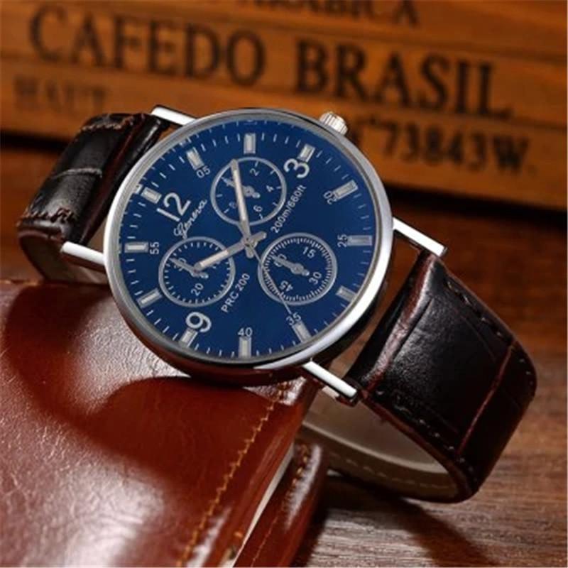 Geneva Men Analog Quartz Watch BROWN