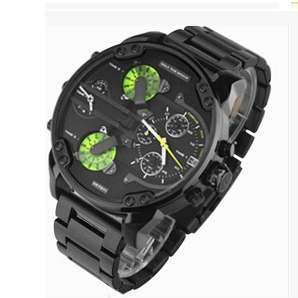 Brand Luxury Wristwatch Military Clock Sport Big Dial Stainless Steel Business Metal Watch Bracelets Men Relogio Masculi IVY