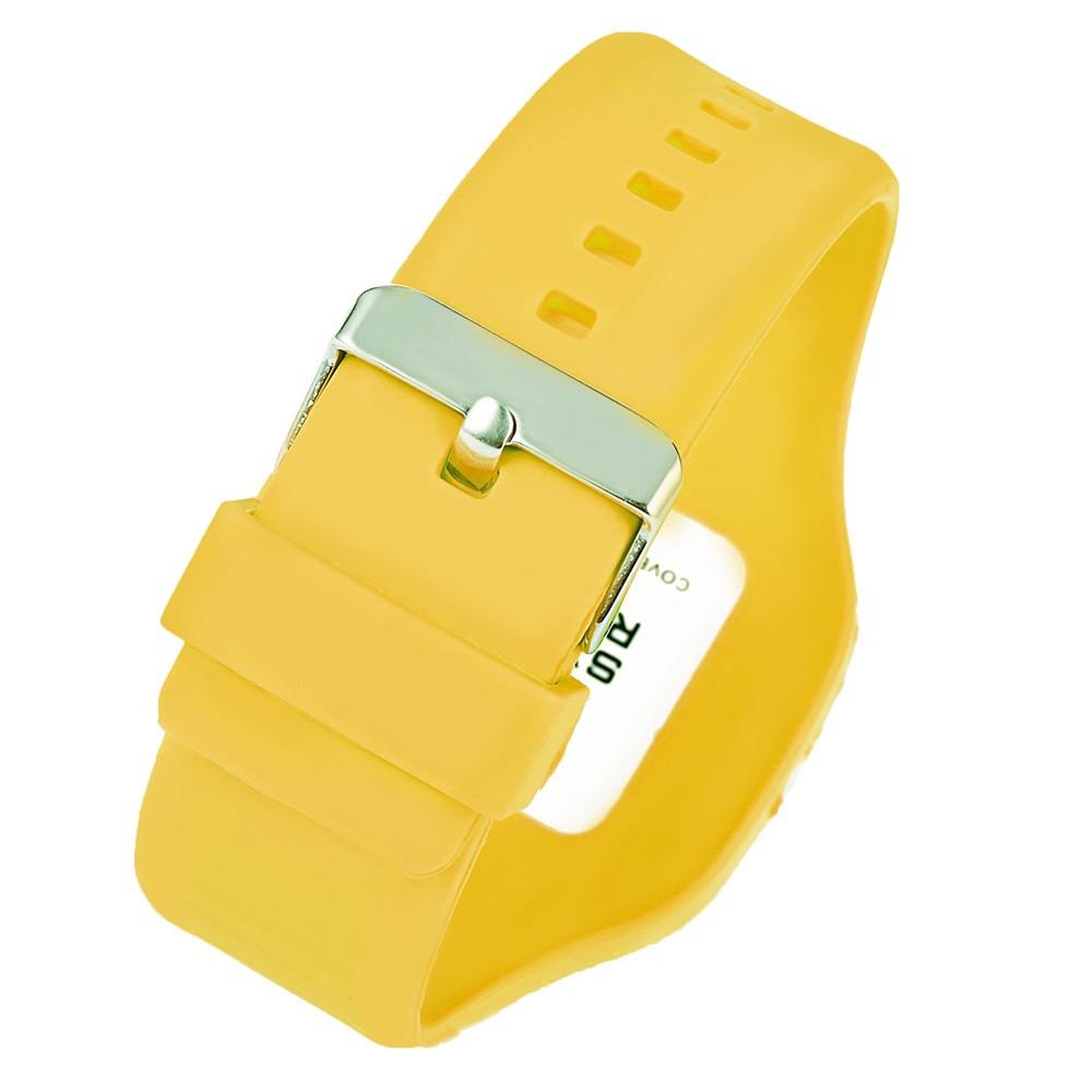 SYNOKE 66896 Waterproof Silicone Band Couple Electronic Watch YELLOW