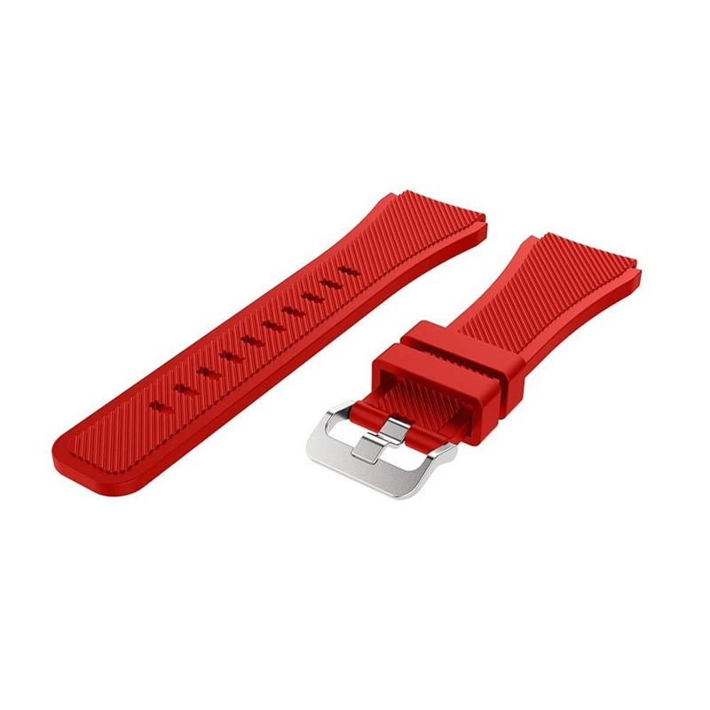22MM Silicone Sport Strap Watch Band for Samsung Galaxy Watch 46mm SM-R800 RED