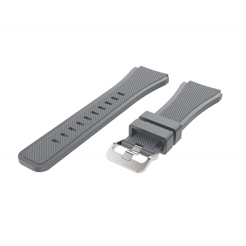 22MM Silicone Sport Strap Watch Band for Samsung Galaxy Watch 46mm SM-R800 GRAY