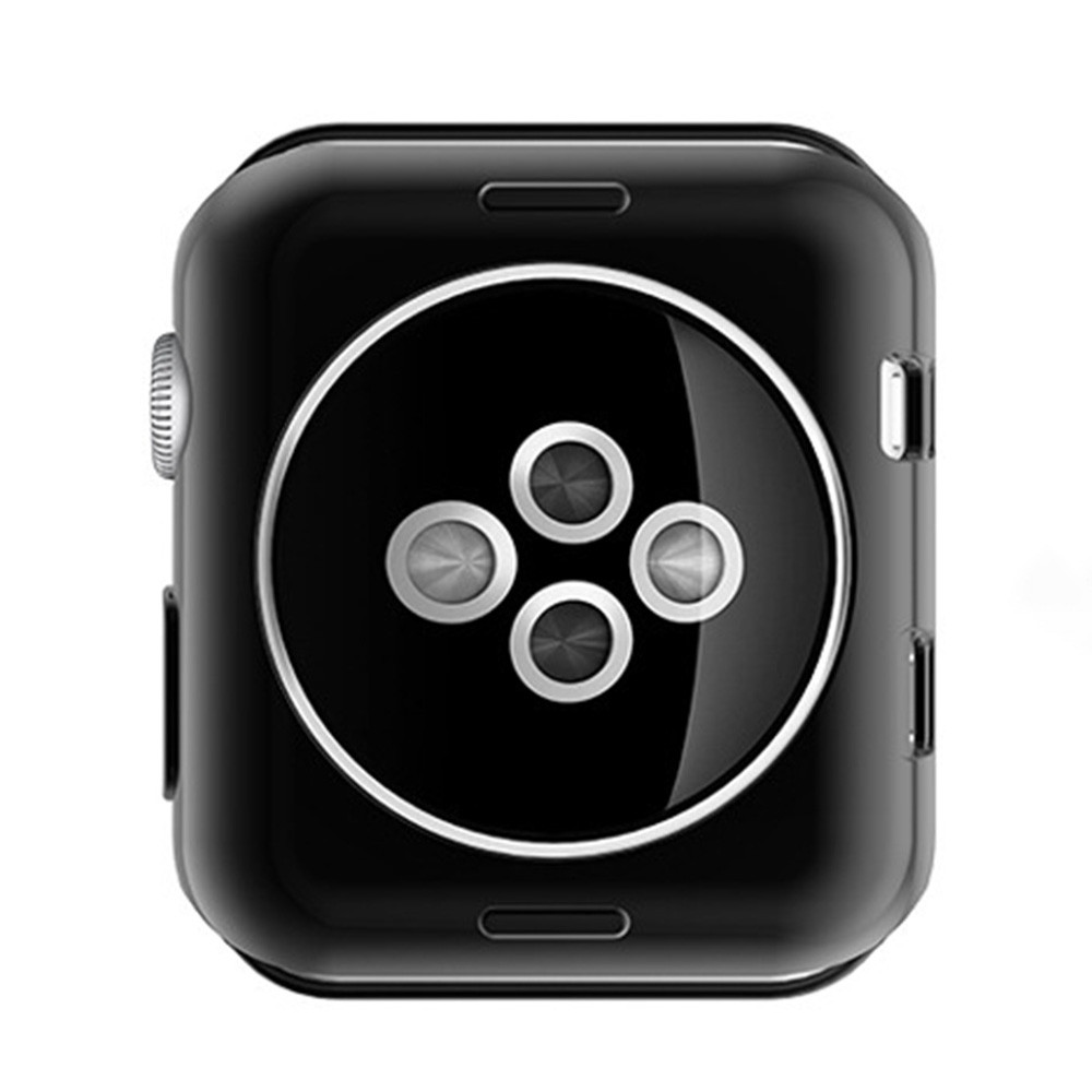 42mm Scratch-resistant Soft Flexible Silicone Lightweight Plated Protector Case for Apple Watch BLACK