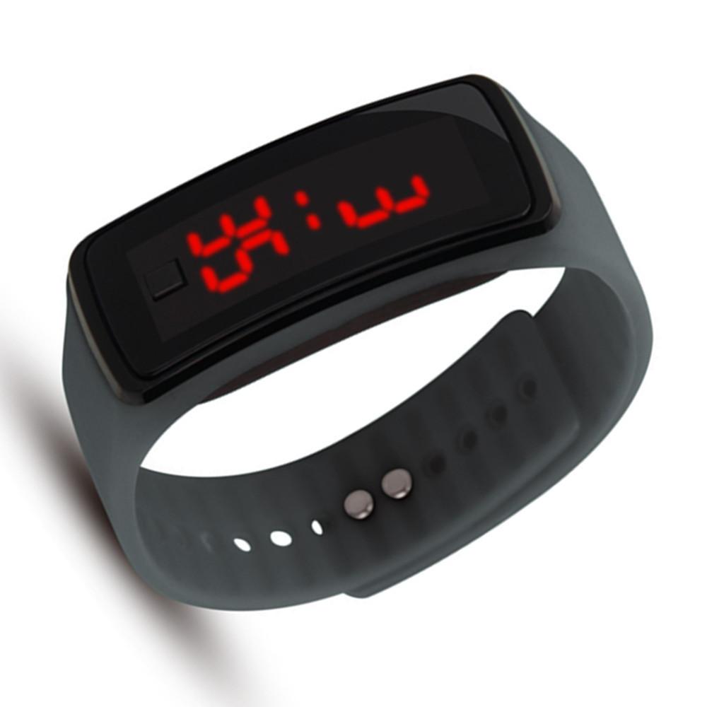 High Quality Men Women LED Digital Bracelet Watch GRAY
