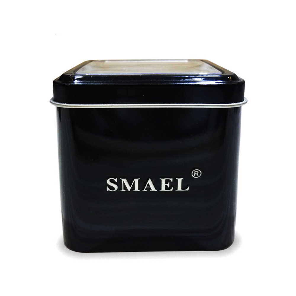 SMAEL 1237 Fashion Multi-function Silicone Band Sport LED Watch BLACK