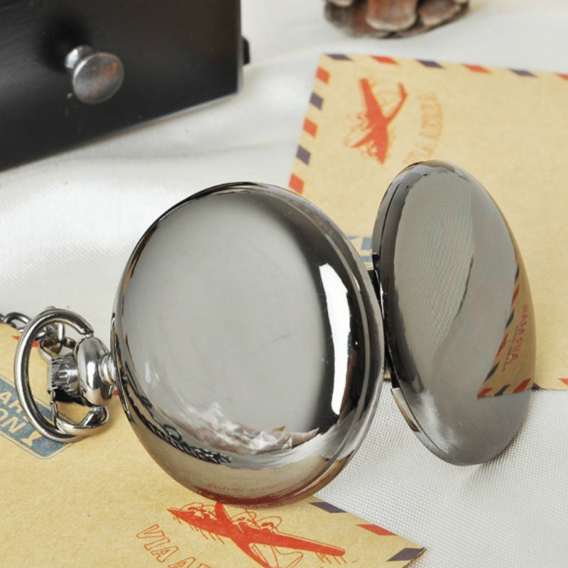 Polishing Smooth Fashion Pocket Watch GUNMETAL