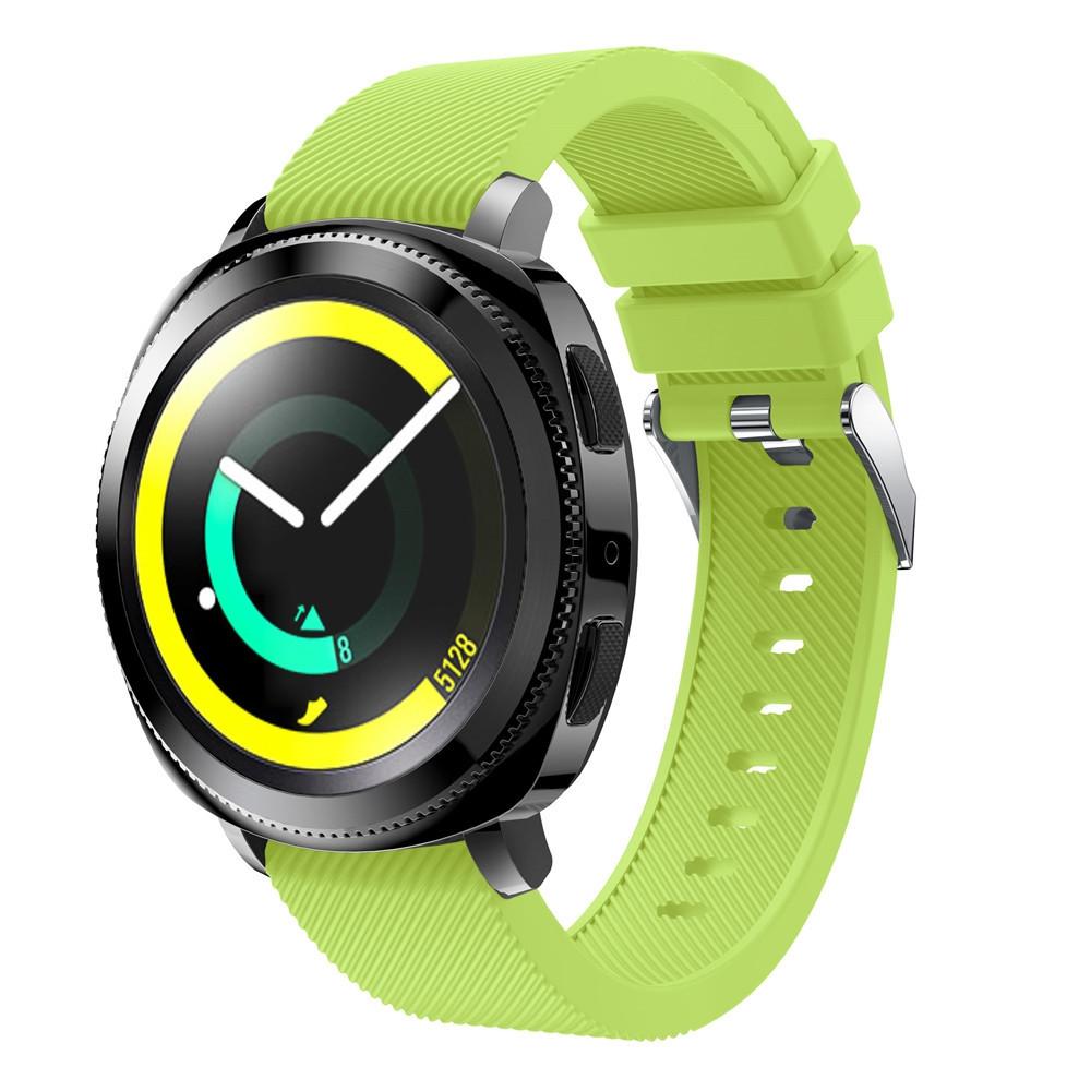20mm for Samsung Gear Sport Silicone Rubber Wrist Band Strap TEA GREEN