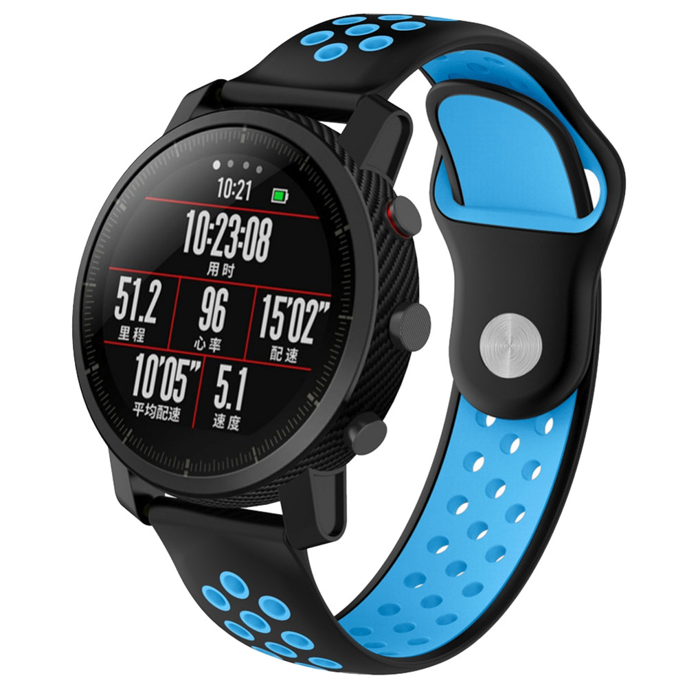 Breathable Replacement Wrist Band Strap for Amazfit Smartwatch 2 / 2S WINDOWS BLUE