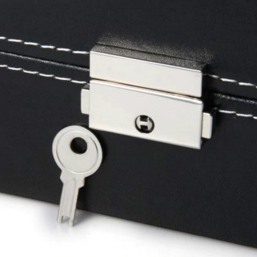 New 12 Grid Simple Atmosphere Watch Box BLACK