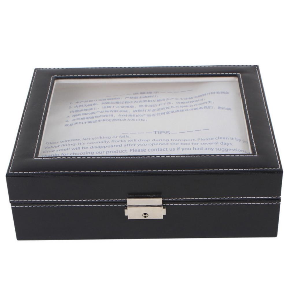 New 10 Grid Simple Atmosphere Watch Box BLACK