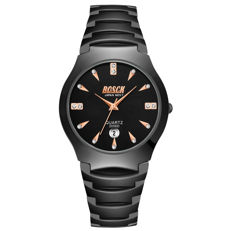 BOSCK Couples Leisure Stainless Steel Waterproof Quartz Watch MULTI-C
