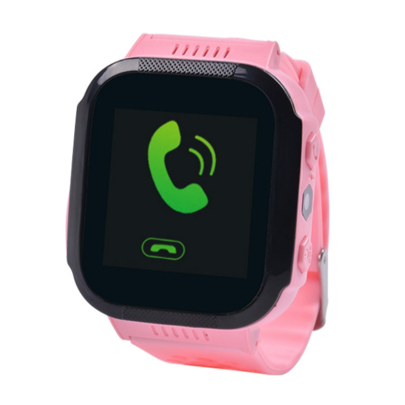 Children Smartwatch with Mobile GPS Positioning Learning Lamp and Other Functions LIGHT PINK