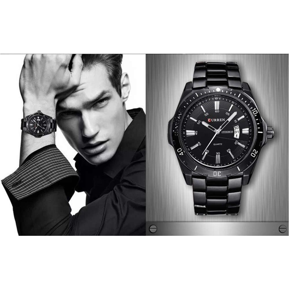 CURREN Men's Fashion and Casual Simple Quartz Sport Wrist Watch NIGHT
