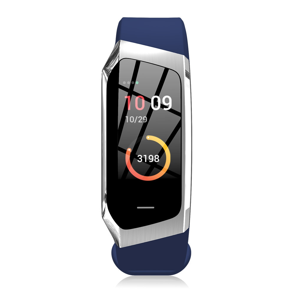 E18 Smart Heart Rate Bracelet Sports Watch COBALT BLUE REGULAR