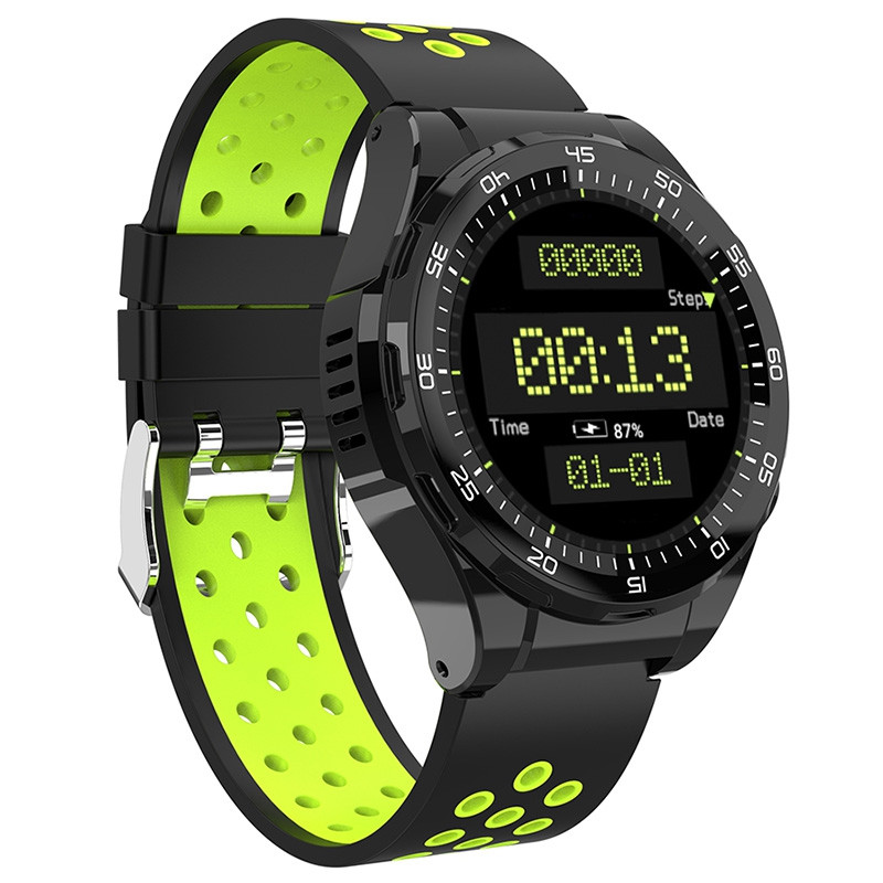M15 4G Smartwatch Phone 1.3 inch Android 6.0 MTK6737 Quad Core 1.1GHz 1GB RAM 8GB ROM IP65 Waterproof 730mAh Built-in Sedentary Reminder GREEN APPLE