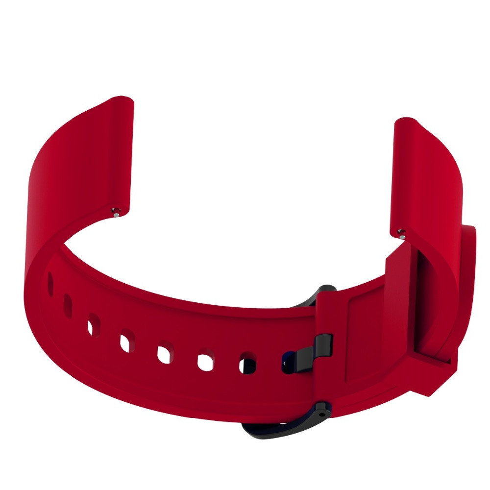 20MM Quick Replacement Silicone Watch Band Strap For Xiaomi Huami Amazfit Bip RED