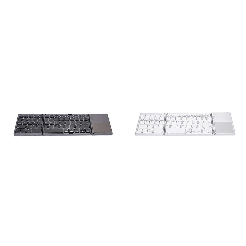 B033 Ultra Light Mini Bluetooth Folding Keyboard Touchpad with Three Layers