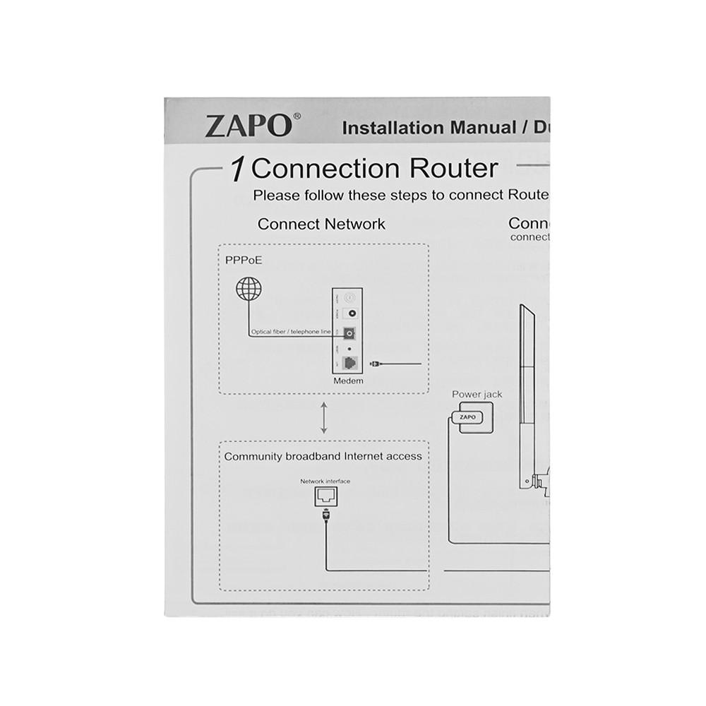 ZAPO Z - 1200 Wireless Router Smart WiFi 2.4 / 5GHz 1200M