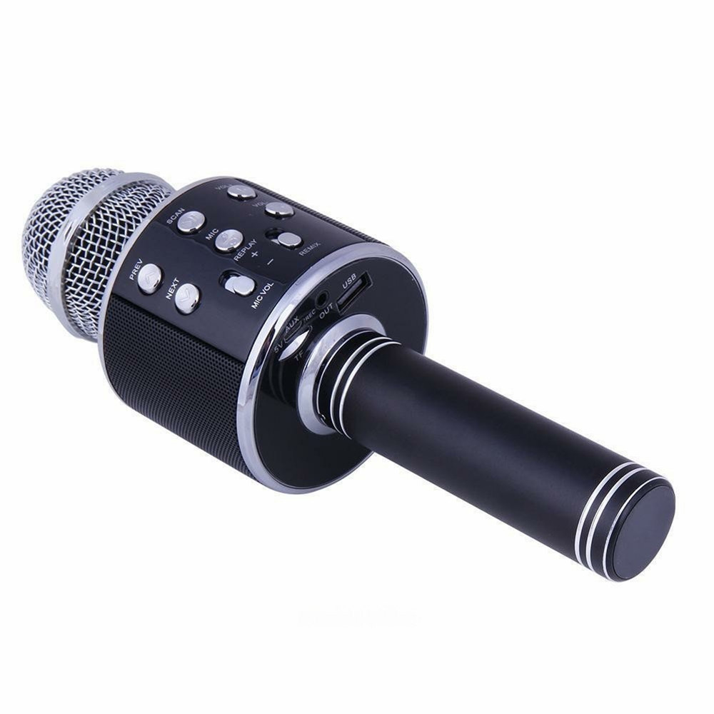 Wireless Bluetooth Karaoke Handheld Microphone USB KTV Player Mic Speaker Record Music Microphones