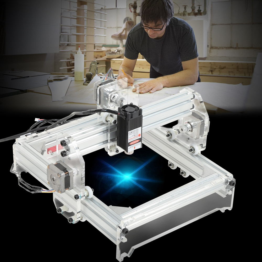 20 x 17cm 2000MW Laser Engraving Machine DIY Kit Carving Instrument