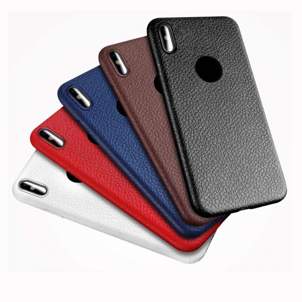 Case For Apple iphone X Shockproof Full Body Solid Color Soft Striae TPU