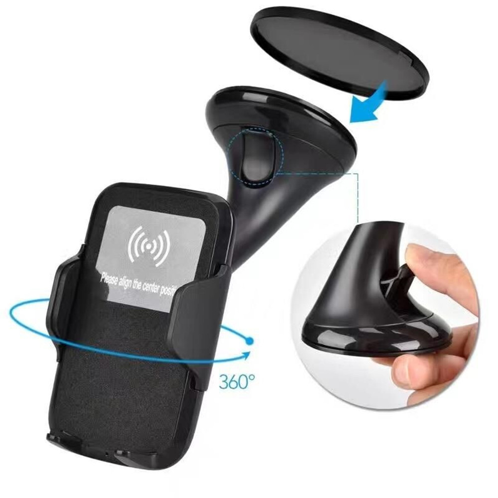 360 Rotatable Degrees Car Phone Mount Fast Charge Wireless Charger