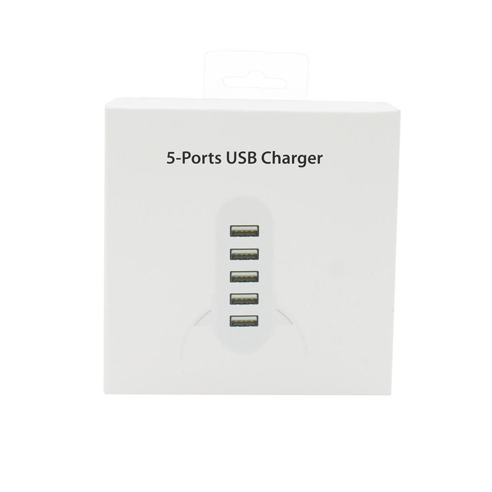 Minismile Universal 40W 5-USB Port 5V 8A Horizontal Type Charger with Holder
