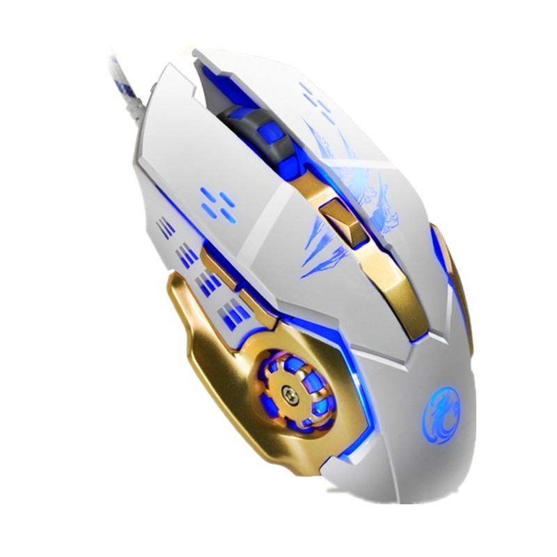 Apedra A8 Wired Gaming Mouse Macro Definition Programming Four-Color Breathing Light Electrical Weight