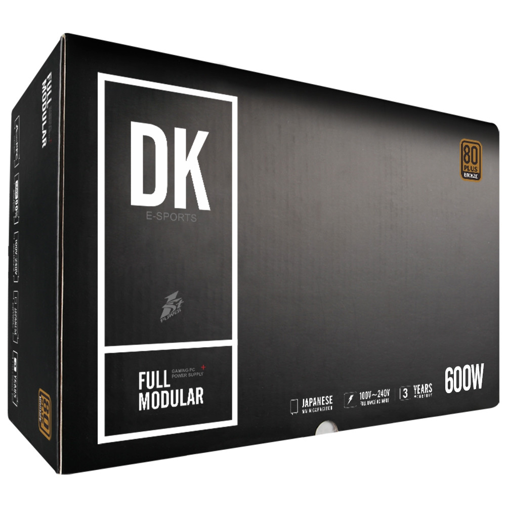 1STPLAYER DK 6.0 600W Active PFC High Performance ATX Power Supply 80 Plus Bronze Certified Full Modular