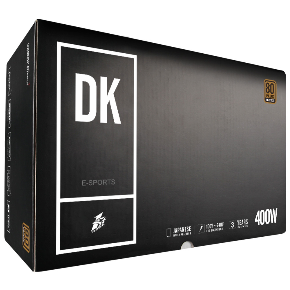 1STPLAYER DK 4.0 400W Active PFC High Performance ATX Power Supply 80PLUS Bronze Certified Non-Modular
