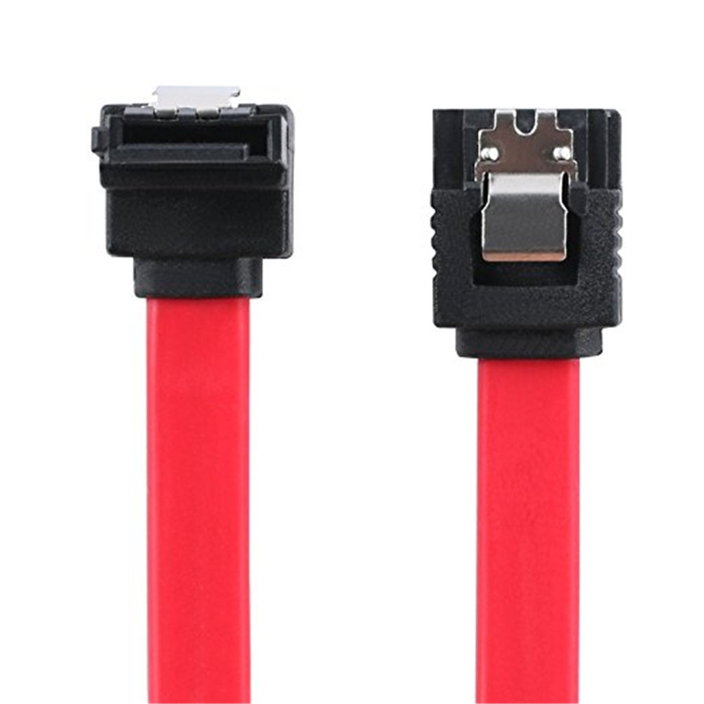 16-Inch SATA III 6.0 Gbps Cable with Locking Latch and 90-Degree Plug