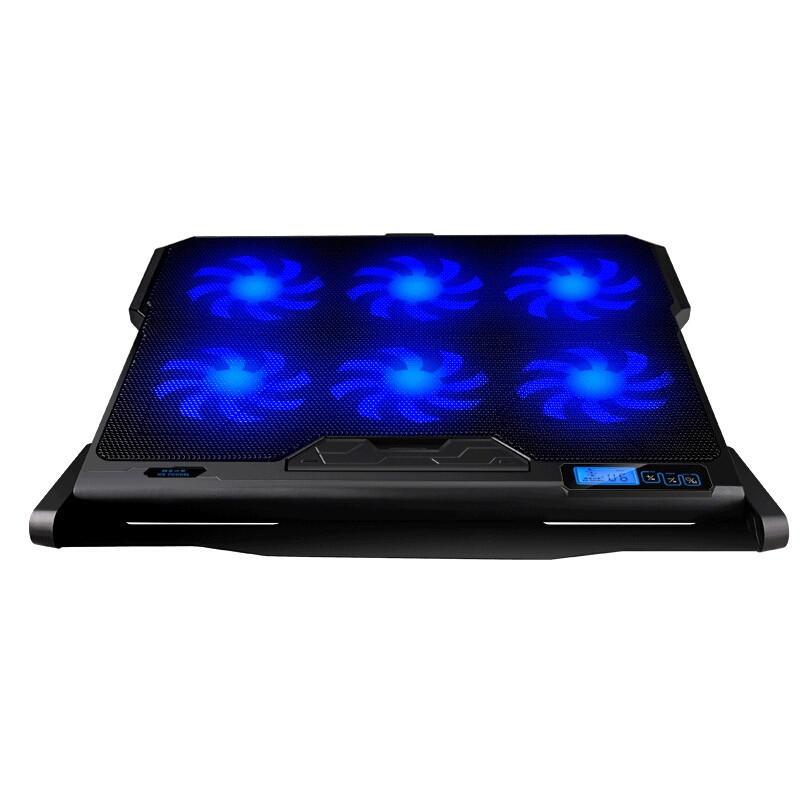 Cooling Pad for Laptop Notebook LED Touch Screen Speed Control Cooler Six Fans