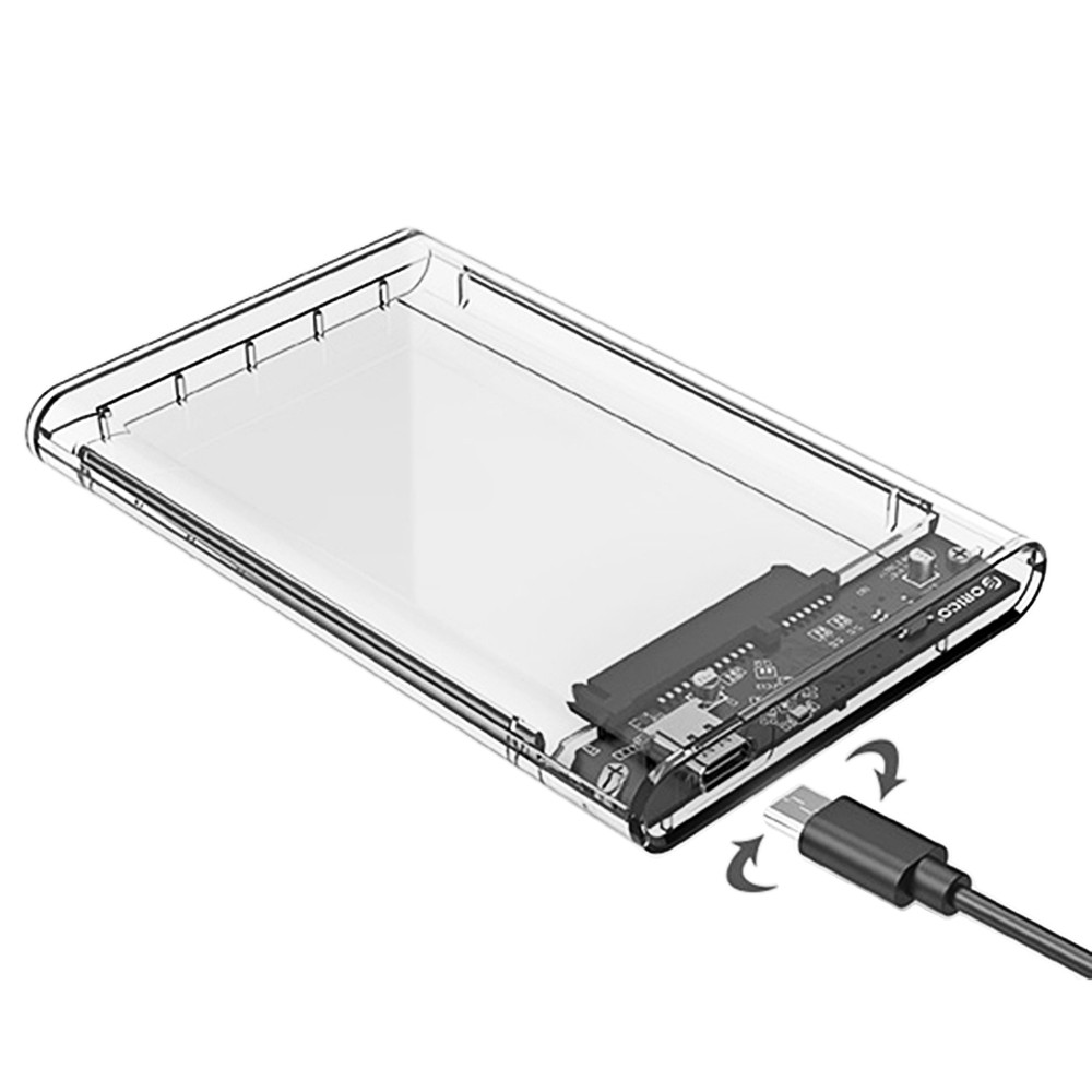 ORICO 2139C3 2.5 inch Transparent Hard Drive Enclosure for HDD / SSD Connectivity