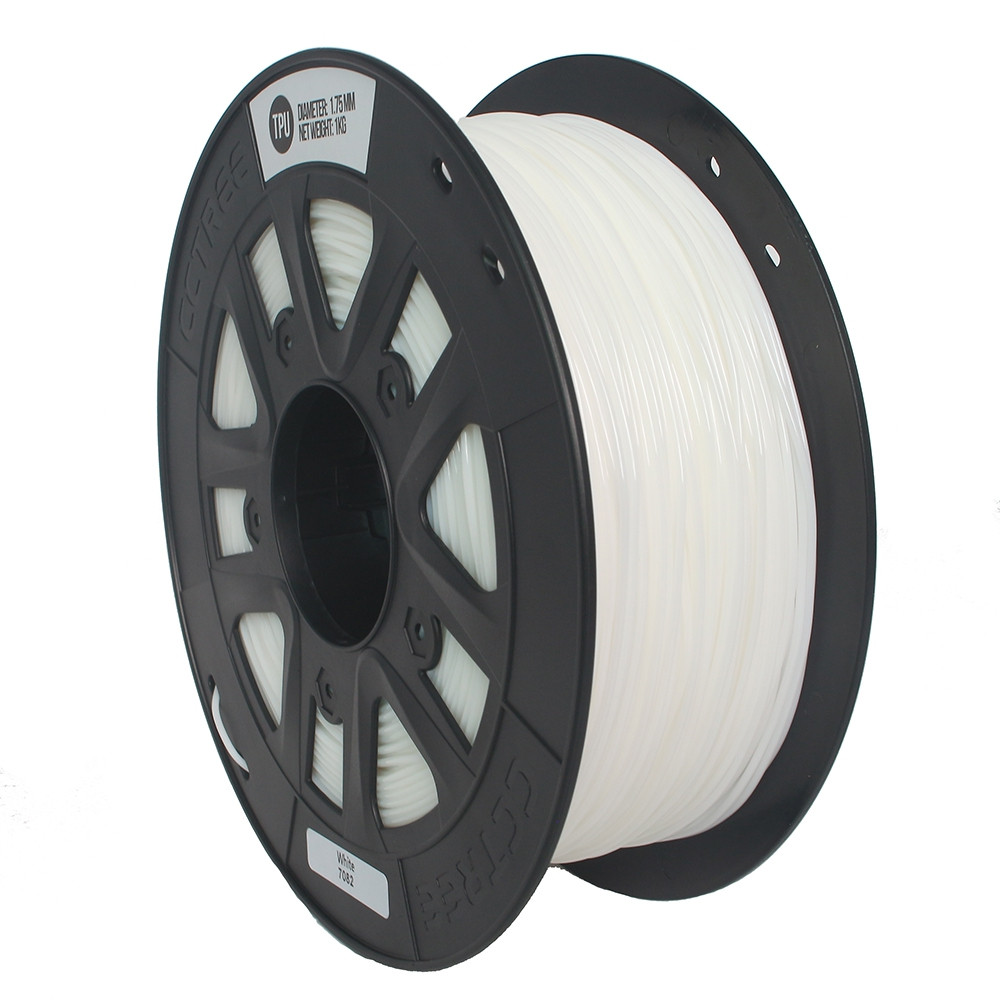 1.75mm TPU Flexible 3D Printer Filament White for Creality CR - 10S Anet A8