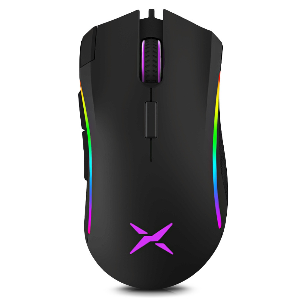 Delux M625BU A3050 Wired Gaming Mouse Adjustable DPI Colorful RGB Light