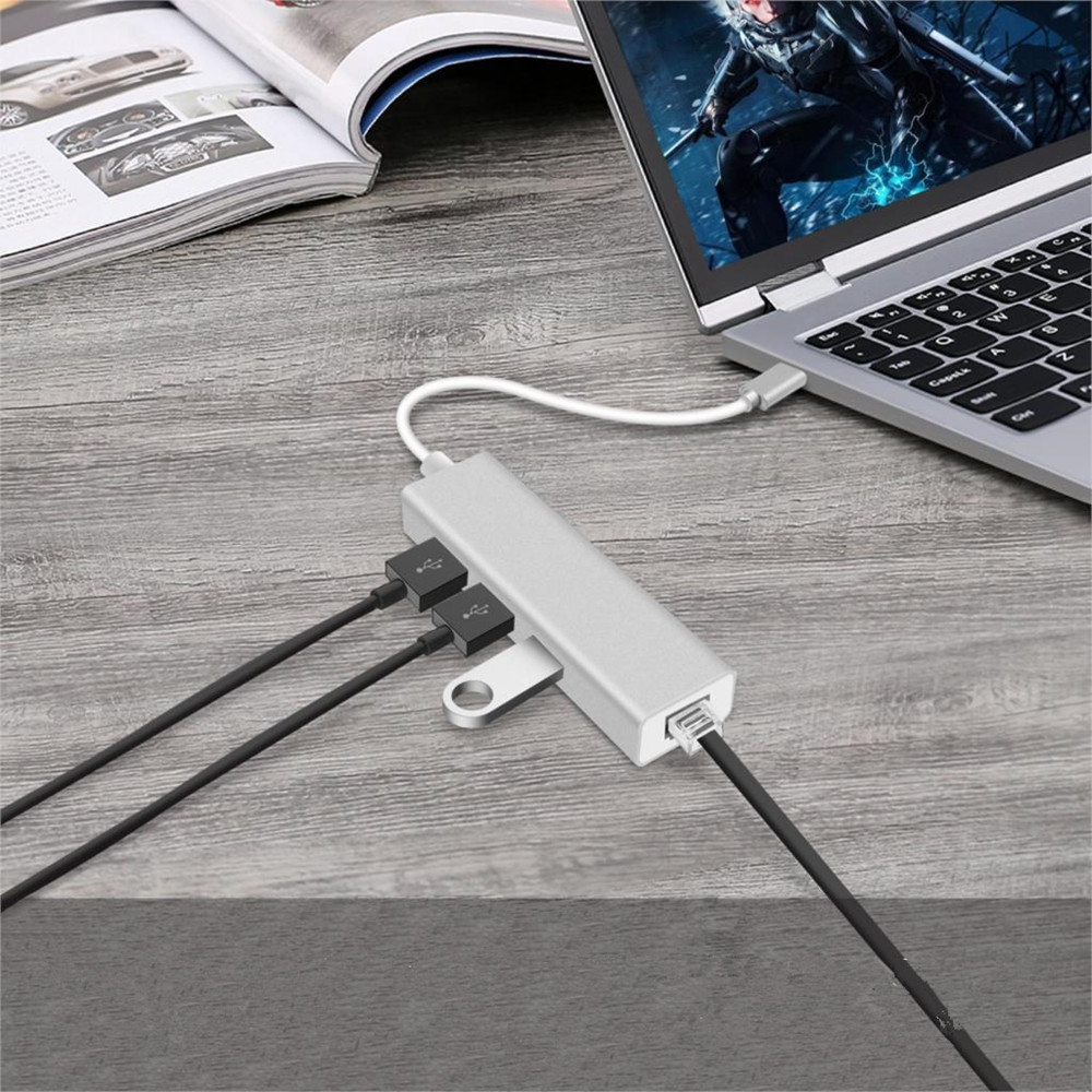 USB C HUB Gigabit Ethernet Rj45 Lan Adapter To USB 3.0 HUB Network Card