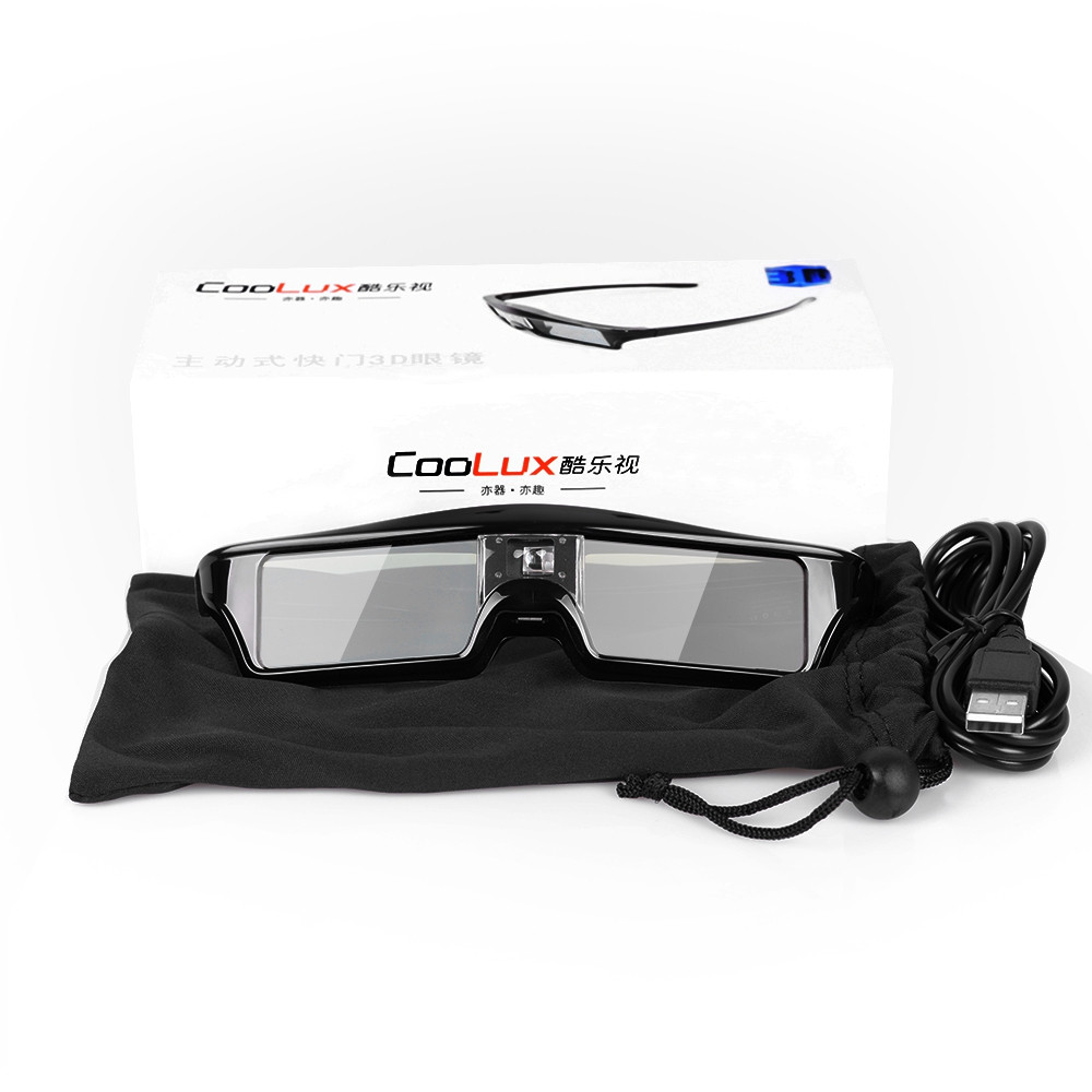Coolux HD 120Hz DLP Link 3D Glasses Rechargeable Active Shutter Eyewear