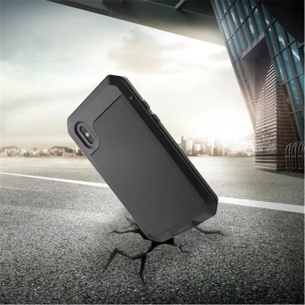 Luxury Armor Durable Shock Waterproof Metal Aluminum Phone Case for iPhone X