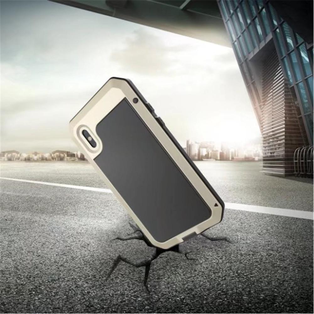 Luxury Armor Durable Shock Waterproof Metal Aluminum Phone Case for iPhone X