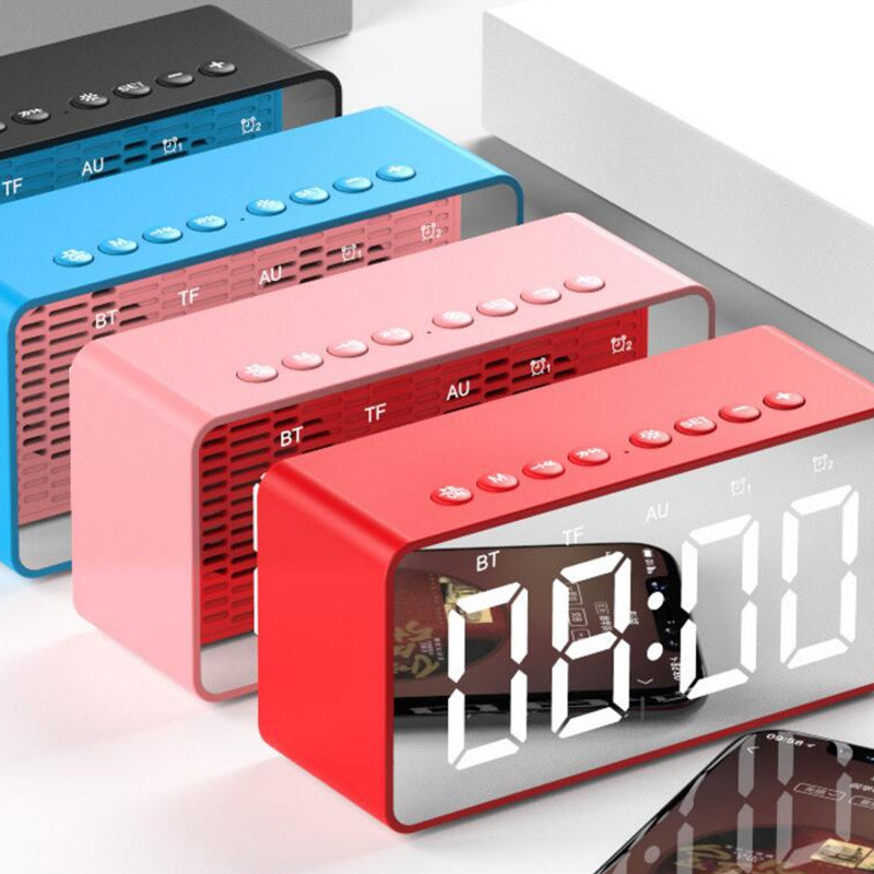 AEC Multifunctional Portable Bluetooth Alarm Clock Speaker