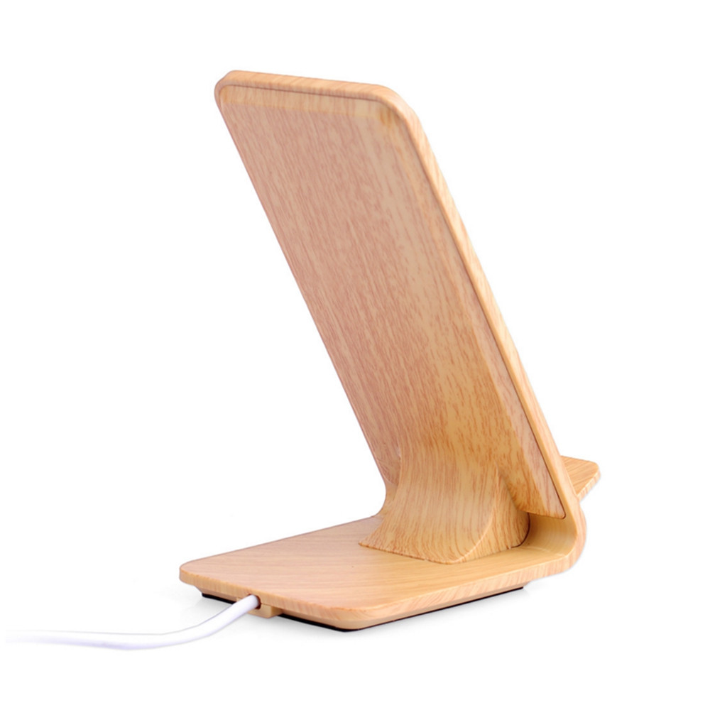 A8 Wood Stent QI Mobile Phone Wireless Charger for iPhone 8 / X  Samsung Note 7 / S7 Edge