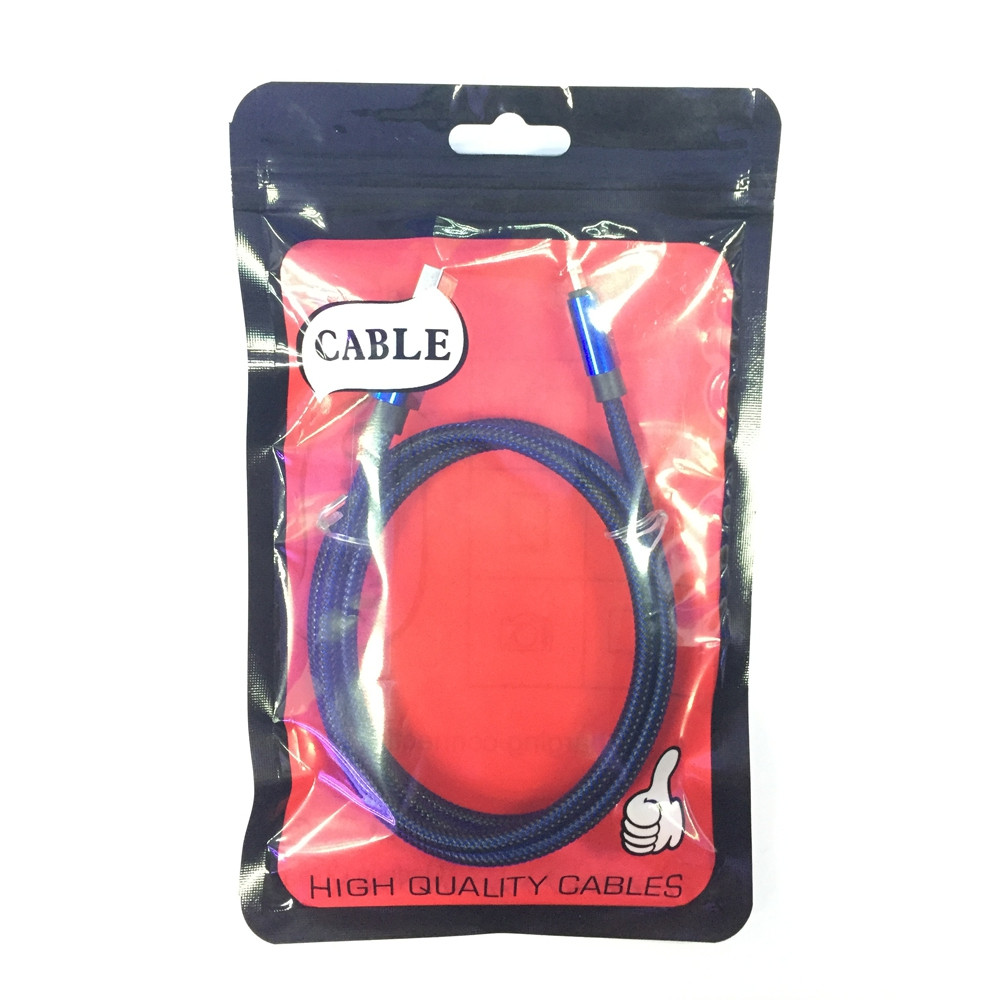 1M 2.1A Nylon Braid Fast Charger Data Cable for 8 Pin Devices