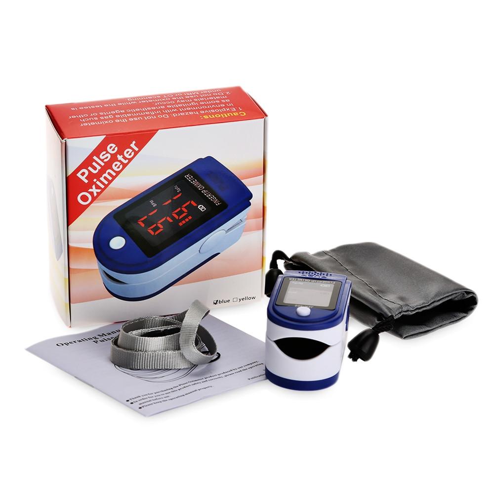 gustala Instant Digital Fingertip Pulse Oximeter Health Monitor BLUE