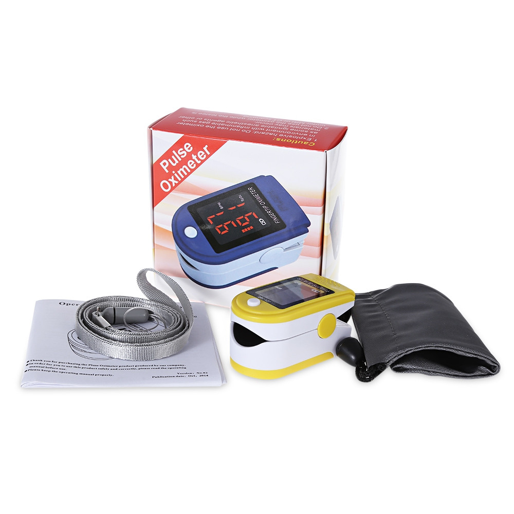 gustala Instant Digital Fingertip Pulse Oximeter Health Monitor YELLOW