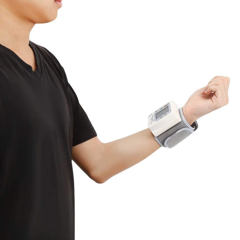 gustala CK-101S Health Care Wrist Blood Pressure Monitor WHITE