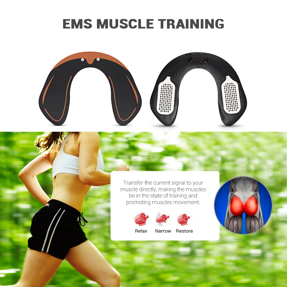 SM - 109 Electric EMS Intelligent Hip Trainer Buttock Lifting Stimulating Muscle  BLACK