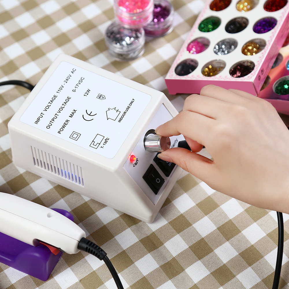 JMD - 101 Nail Manicure Pedicure Tools Files Electric Polisher Grinding Machine WHITE EU PLUG