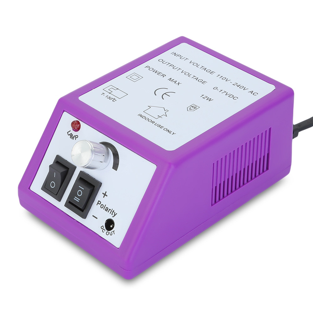 JMD - 101 Nail Manicure Pedicure Tools Files Electric Polisher Grinding Machine PURPLE EU PLUG