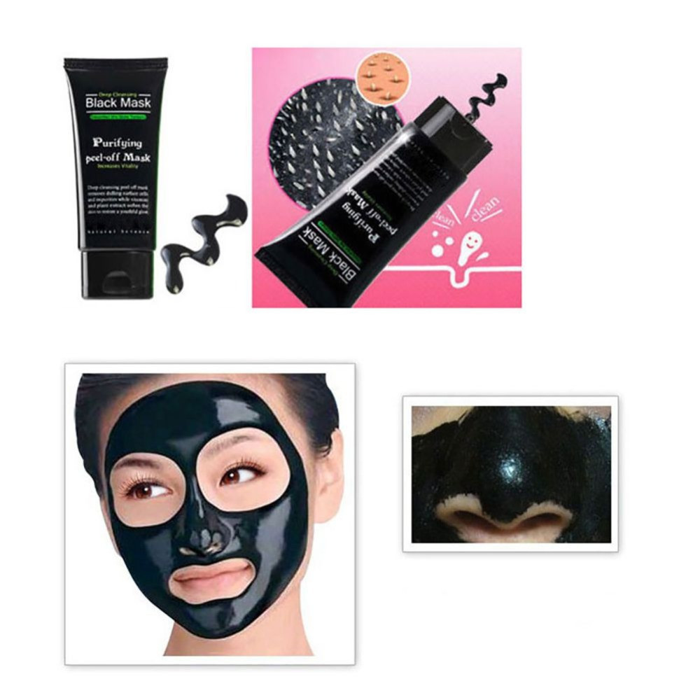 Blackhead Remove Facial Masks Deep Cleansing Purifying Peel BLACK