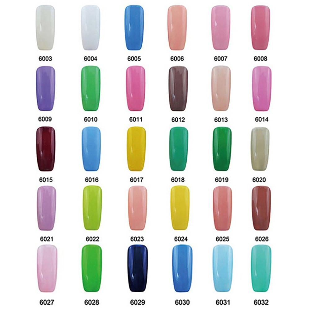 Elite99 60 Candy Colors Long-Lasting Varnish Top Coat Nail Polish 10ml JADE GREEN